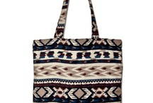 Begforbag / Flanel bag with Indian etno pattern
