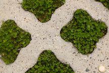 Idée alliance végétal/minéral / Revêtement esthétique - Ecologique et Circulable