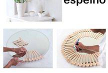 Espejos decorados Reciclados