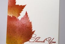 Stampin up card using leaves / Leaves