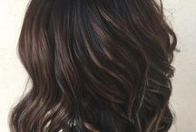 Black hair highlights ciocolate