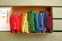 Janet's Liturgical Rainbows / This board is about my process in designing and constructing a liturgical stole from neckties of all colours and textures, creating a rainbow clergy stole complete with heart, dove and spiral.