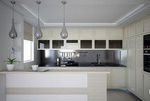 Dom jednorodzinny w Aninie / Funkcjonalne, a przy tym oryginalnie zaprojektowane wnętrza domu jednorodzinnego. Jasna, przestronna przestrzeń to wynik zastosowania białego koloru jako dominującego.