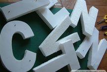 Monogramme / lettres 3D