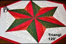 patchwork prostírání vánoce