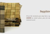 Gemss Sapphire Exotics / From the moment you step into a space designed with Sapphire  Exotics Gemss as center piece, you are engulfed into contemporary charm of natural wood.