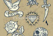 Old school tatoeages
