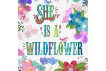Hand lettering flower art