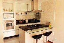 Cozinha americana vidro
