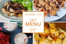 Diet Freezer Menu September 2015 / by Once A Month Meals