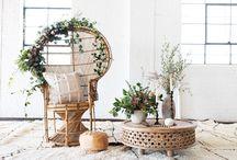 Boho Chic Style / Worldy, bohemian-inspired settings, design and interiors