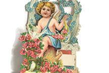Victoriana, valentines, antique ephemera, vintage paper