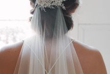 wedding hair and veils