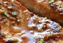 Honey garlic salmon / Salmon