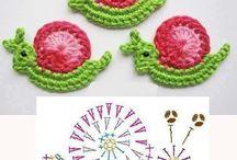 Crochet motif, applique / Virkade motiv och märke