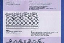 crochet edgings- πλεκτές δανδέλες