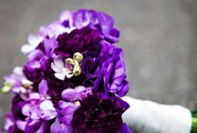 Purple wedding bouquet / purple bouquets