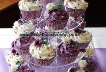 cupcakes purple wedding