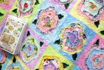 flower quilt, french roses