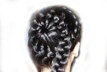 vlasy / pletené účesy