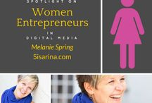 Women Entrepreneurs in Digital Media / It feels REALLY GOOD to shine a light on women entrepreneurs in digital media ...doing amazing things! / by Craft Web Solutions