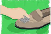 Sapatos limpeza de camurça