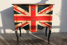 Theme: cool Britannia / Red, white and blue with hints of regal purple