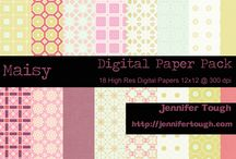 Free Digital Paper Goods / digital papers for scrapbooking, altered art, mixed media - and other crafts.  / by Jennifer Tough