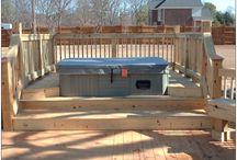 Hot tub deck