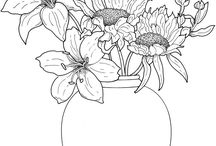 Floral Coloring Books / Nature and floral coloring books and pages.  Feel like you are one with nature!