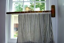 Curtain Rod Craziness / Window Treatments, Odd Rods / by ThreeOldKeys Laurie C