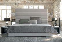 High Back Modern Upholstered Bed King