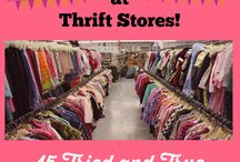 Saving and thrift shopping