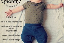 Baby - monthly photos / by smmawson