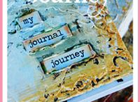 Art Journal Lights / Lights and Brights. Muted Art Journal Work and Muted Pages
