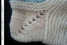 meia tricô bebê