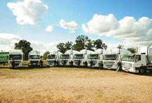 Pellet delivery trucks