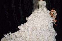 Lisa crochet bride doll.