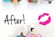 DIY make up Organizers / Fun to keep your make up looking good