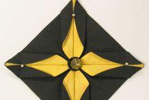 selyem origami díszek