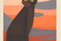 cat in sunset