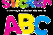 Alphabet Clip Art / Fun and colorful alphabet clip art lettering!  Perfect for classroom projects and for designing cover pages and resources on TeachersPayTeachers.