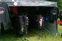 Our Festival Stall / We have a festival shop that pops up here and there so you can see the clothes for real, if you are interested in having our stall at your festival then please get in touch.