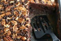 Gâteaux trous choco-caramel