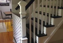 Fabric gate for staircases