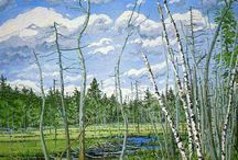 Artist: NEIL WELLIVER / The art of Neil Welliver / by Jolene aka Willow Goodwitch Price-Duff