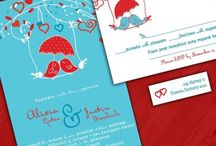 Aqua and red, for when we wed / Aqua blue and red wedding colors