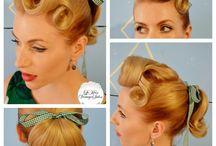 Vintage Hairstyles and Makeup / Vintage hairstyles we love and makeup tips to help us get an authentic vintage look.
