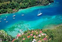 Sailing in French West Indies