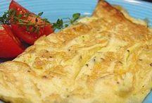 omelette, pizza ou tarte